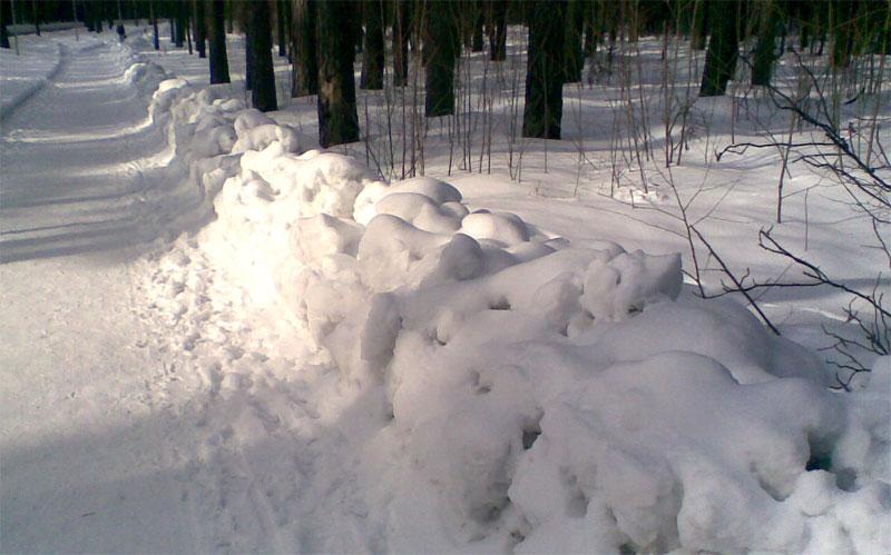 Уборка снега в Риге